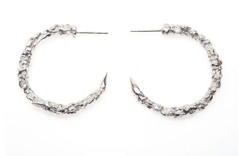 Large Thorn Hoop Earrings, Ros Millar - CultureLabel