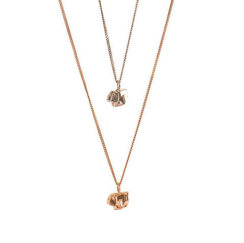 Nugget Stud Necklace in Rose Gold, Ros Millar Alternate View
