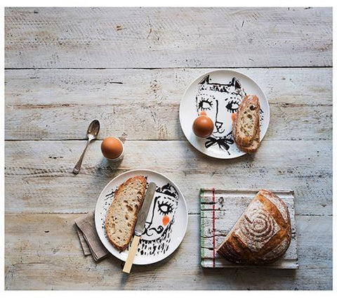 Boy and Girl Cat Plates, Katy Leigh - CultureLabel