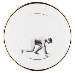 Man on the Run Bone China Plate, Melody Rose Alternate View