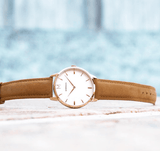 Signature Tan Suede Watch, Montecivo Watches - CultureLabel - 2