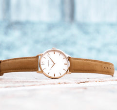 Signature Tan Suede Watch, Montecivo Watches Alternate View