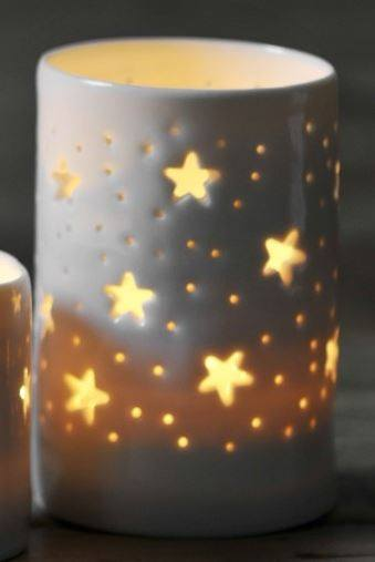 Stars Maxi Tealight Holder, Luna Lighting - CultureLabel