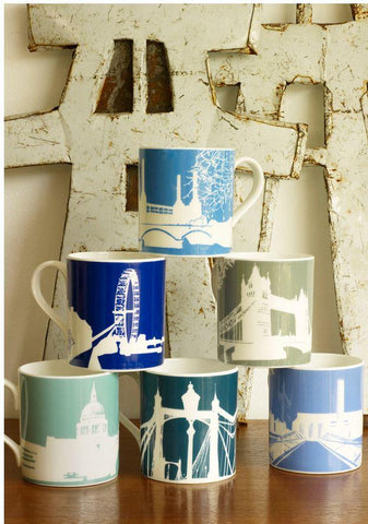 Set Of Six River Series Mugs Alternate View