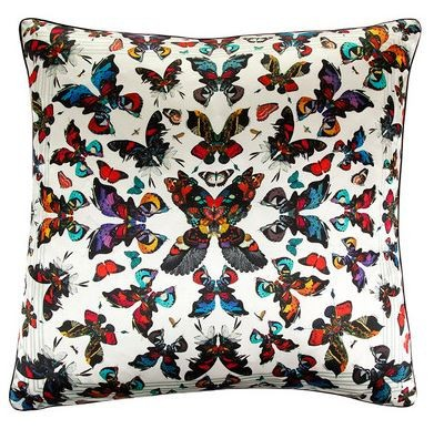 Butterfly Kaleidoscope Silk Cushion Cover, Kristjana S Williams