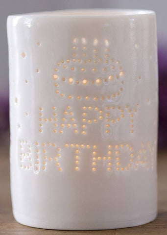 Happy Birthday Maxi Tealight Holder, Luna Lighting