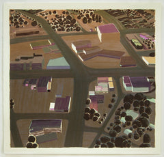 Roads Buildings (Night), Carol Rhodes