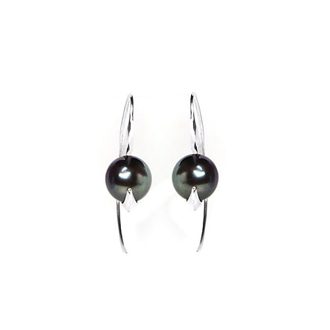 Cathy Pearl & Silver Earrings, Lee Renée