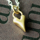 Handmade Wild at Heart Solid 9ct Gold Heart and Silver Necklace, Pretty Wild Jewellery - CultureLabel - 2