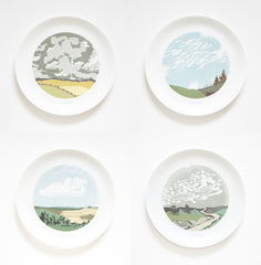 Set of Four Cloud Dinner Plates, Snowden Flood Alternate View