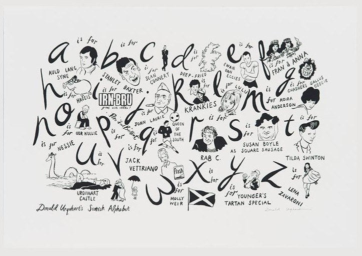 Scottish Alphabet, Donald Urquhart - CultureLabel - 1