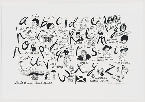 Scottish Alphabet, Donald Urquhart - CultureLabel