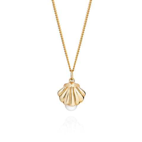 Shell & Pearl Necklace, Lee Renée - CultureLabel