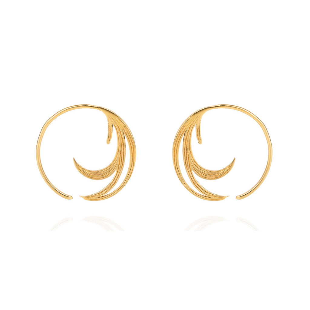 Duck Feather Hoop Earrings, Lee Renée - CultureLabel - 1