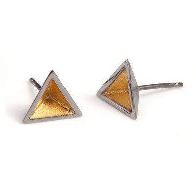 Pyramid Studs with Black Rhodium, Stephanie Ray