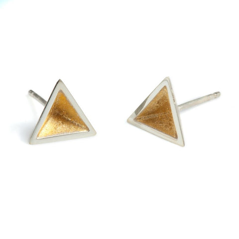 Pyramid Studs with Gold Leaf, Stephanie Ray