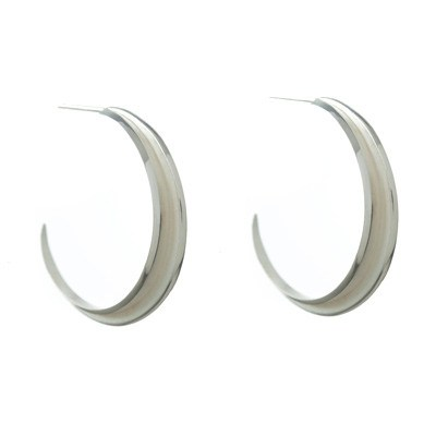 Angle Pyramid Hoops, Stephanie Ray - CultureLabel - 1 (pair)