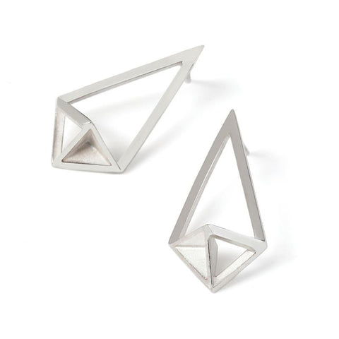 Shard Earrings, Stephanie Ray - CultureLabel - 1 (pair; white background)