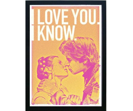 Han and Leia (Framed), The Designers Nursery - CultureLabel