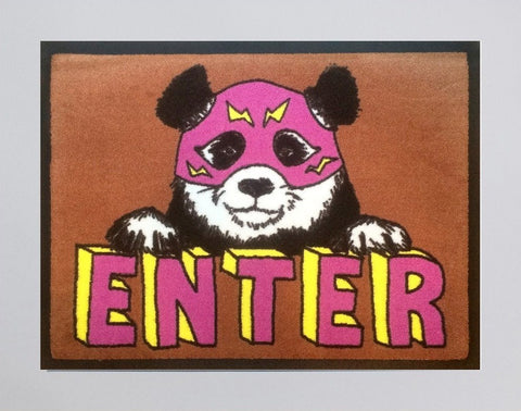 Enter Panda Welcome Doormat, Jimbobart