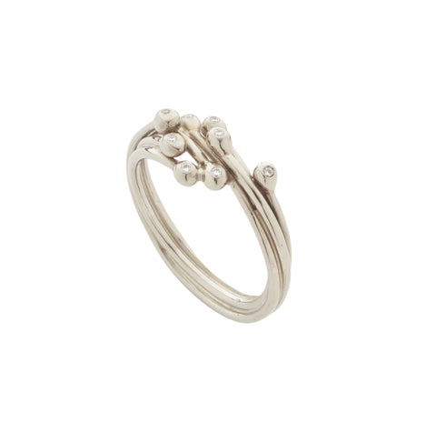 Entwine White Gold and Diamond Ring, Yen Jewellery - CultureLabel
