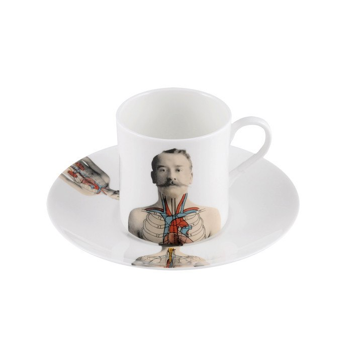 Anatomica Espresso Cup & Saucer, The New English - CultureLabel
