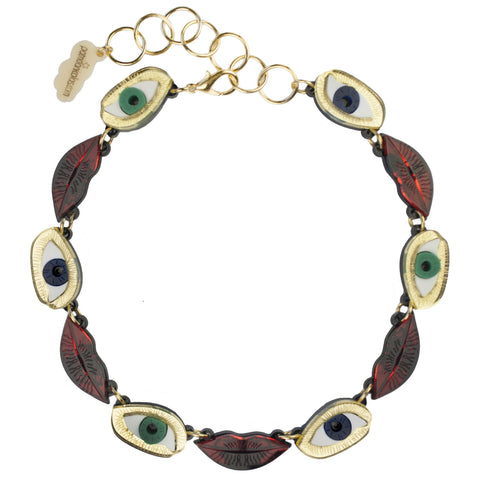 Eye and Lips Necklace, National Portrait Gallery