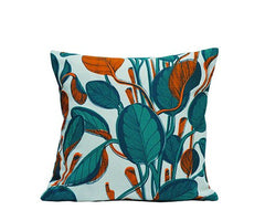 Large Calathea Cushion - Neon, Fanny Shorter Alternate View