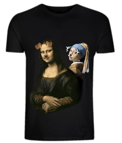 CultureLabel Collective: Mona Lisa & The Girl With The Pearl T-Shirt