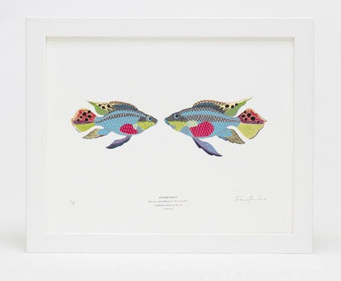 Mate for Life Fish Screen Print, Fanny Shorter