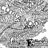 Great British Type Map, Run For The Hills - CultureLabel - 6 (white; close up)