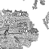 Great British Type Map, Run For The Hills - CultureLabel