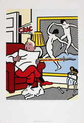 Tintin Reading, Roy Lichtenstein