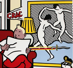 Tintin Reading, Roy Lichtenstein Alternate View