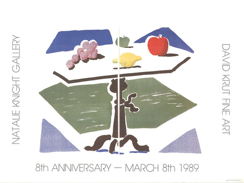 Apple, Grapes, Lemon on a Table, David Hockney - CultureLabel