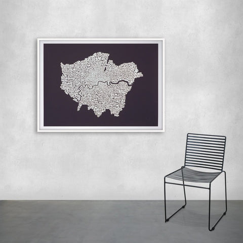 Map of Greater London, Ursula Hitz