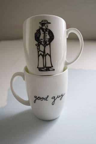 Bad Guy. Good Guy Mugs Set, Janet Milner Alternate View