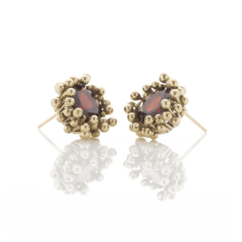 Garnet Earrings, Yen Jewellery - CultureLabel - 1