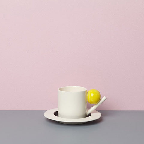 Geometric Cup & Saucer - Colour, Design K - CultureLabel - 1