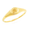 Mini Initial Signet Ring - Gold Vermeil, No 13