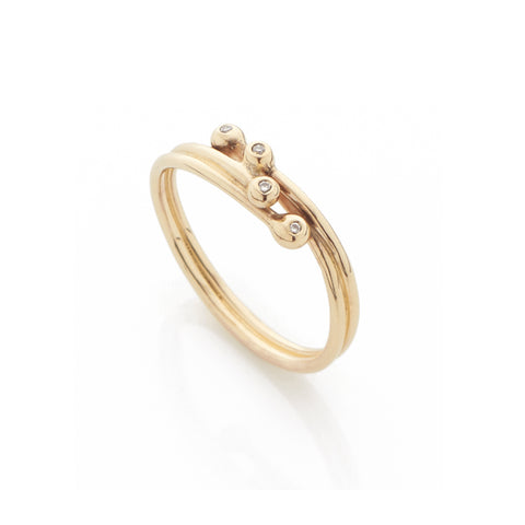 Entwine Simple Diamond Ring, Yen Jewellery - CultureLabel