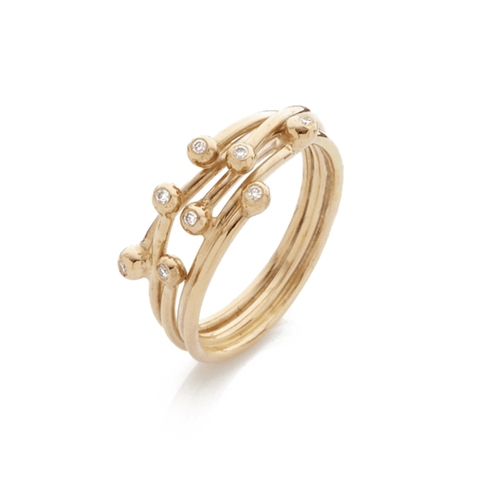 Entwine Gold and Diamond Ring, Yen Jewellery