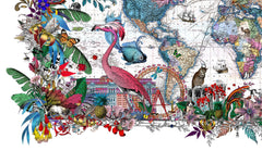 Gull Fiskar - World map 2017, Kristjana S Williams Alternate View