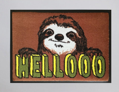 Hellooo Sloth Welcome Doormat, Jimbobart - CultureLabel - 1