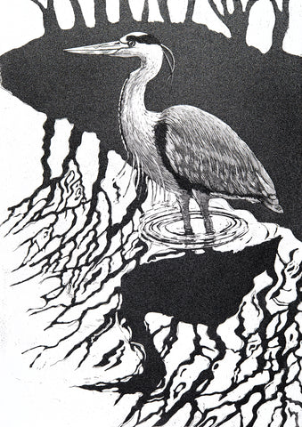 Heron Reflections, Jane Peart