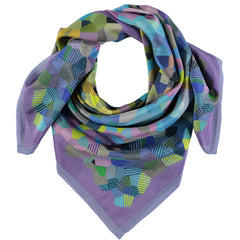 Hockney Inspired Silk Square Scarf, The Royal Academy Alternate View
