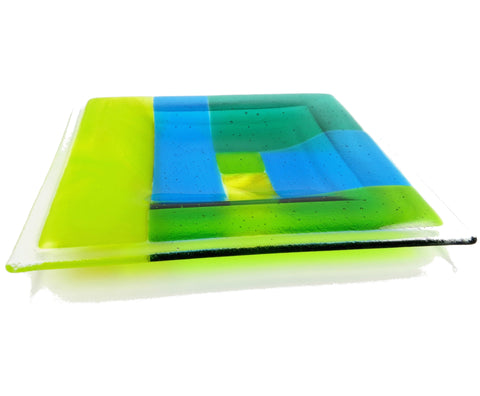 Patchwork Fused Glass Bowl, RD Glass