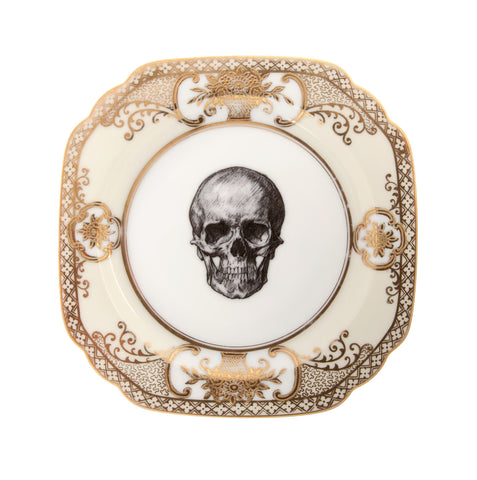 Upcycled Vintage Gold Skull Side Plate, Melody Rose - CultureLabel - 1