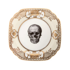 Upcycled Vintage Gold Skull Side Plate, Melody Rose