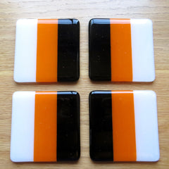 Set of Four Deco Fused Glass Coasters Design 1, RD Glass Alternate View